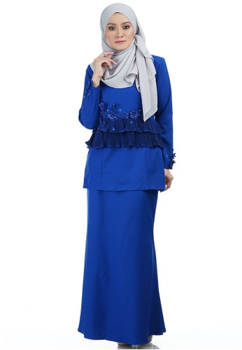 Cala Kurung with Layered Pleated from Ashura in Blue