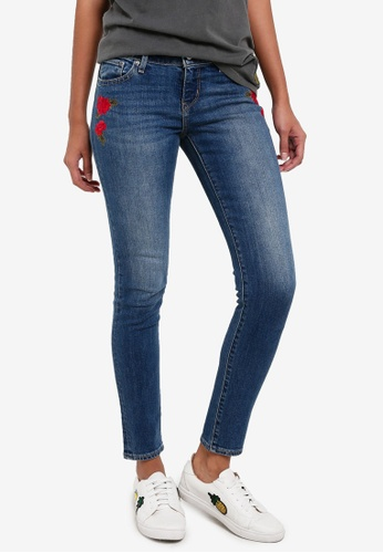 Levi's blue 711 Asia Skinny Jeans LE815AA0RTZTMY_1
