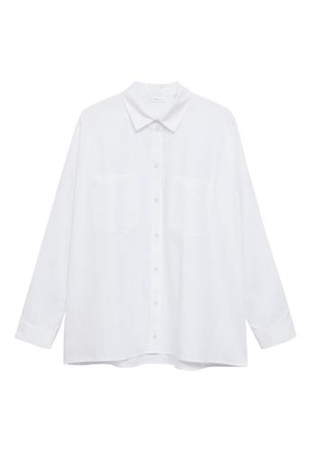 MANGO KIDS white Oversize Cotton Shirt 98749KA444E4E1GS_1
