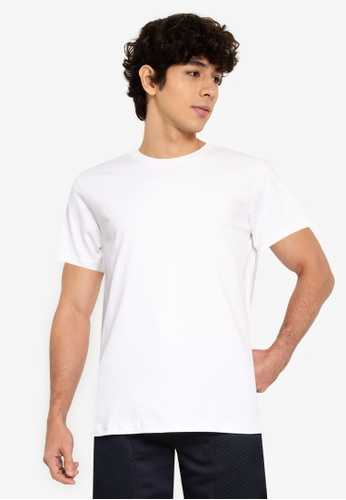UniqTee white Ultra Soft Comfort-Fit Crew Neck Tee A03D2AA91D13EDGS_1
