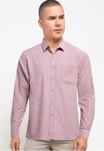 Tolliver X Salt n Pepper red Men Basic Long Sleeve Shirts 73458AA2490ADBGS_1