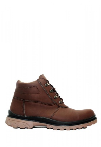 Cut Engineer brown Cut Engineer Breakers Safety Boots Iron Leather Brown 1585DSH3C2533AGS_1