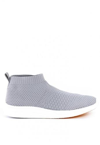 World Balance grey Odyssey MS Slip On Sneakers WO444SH0KHYDPH_1