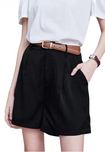 Twenty Eight Shoes black Modish High Waisted Straight Shorts JW VY-W2111005 C9F08AA03B4A20GS_1