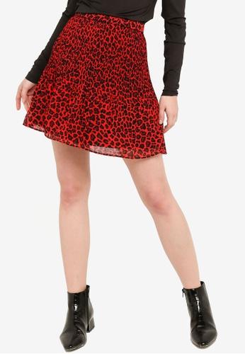 Brave Soul red Mini Pleated Skirt 9F87BAA8ED69EEGS_1