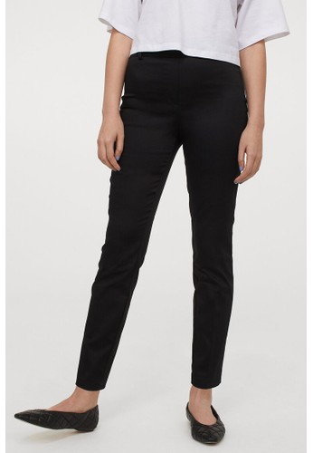 H&M black Crease-leg trousers 3AE63AA0C05817GS_1