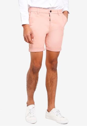 Topman 粉紅色 休閒窄管短褲 B8006AA0285C8CGS_1