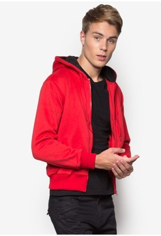 Urban Tee Clips Zip Up Colour Hoodie