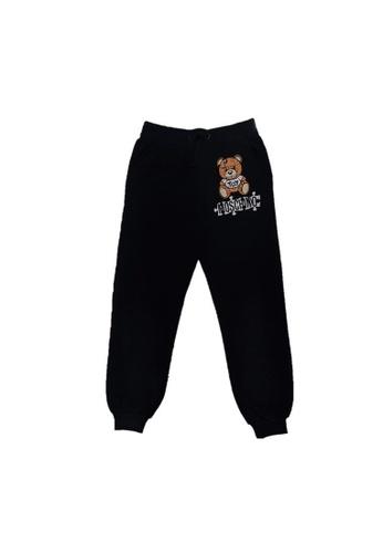 MOSCHINO BABY KID TEEN black MOSCHINO KIDS LONG PANTS C7615KADE17815GS_1