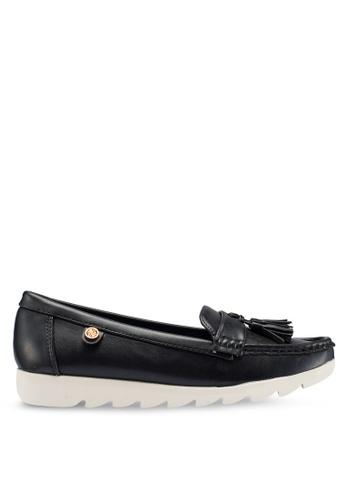 Carlton London 黑色 流蘇樂福鞋 A243ASH3DA1D3BGS_1