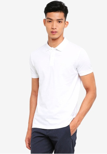 BOSS white Piro Polo Shirt - Boss Athleisure 55B9FAA7C839BFGS_1