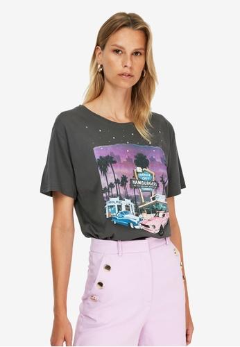 Trendyol grey Vintage Graphic T-Shirt F03C5AA3EDB45FGS_1