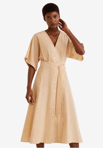 33e08c9e97f Shop MANGO Bow Linen-Blend Dress Online on ZALORA Philippines