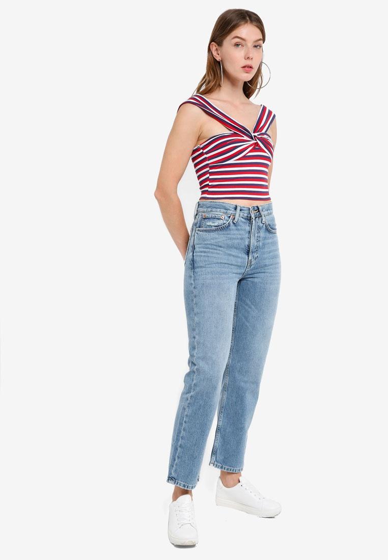 Jeans Mid TOPSHOP Denim Blue New Mid Boyfriend Moto qxYYaHX4