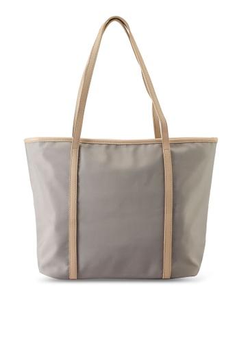 NUVEAU grey Oxford Nylon Tote Bag EA326AC9FA4456GS_1