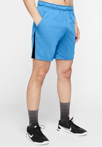 Nike blue Men's Knit Dri-FIT Training Shorts AF436AA8FF99F4GS_1