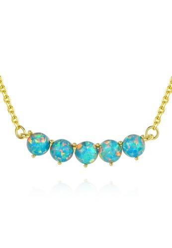 SUNRAIS gold Premium Silver S925 Gold Simple Design Necklace 286D8ACB453FC3GS_1