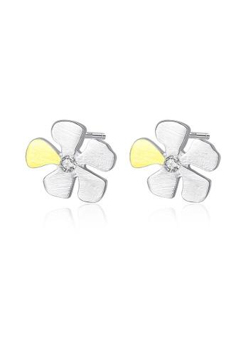 SUNRAIS silver High quality Silver S925 silver petal earrings 27ADCAC4133CC2GS_1