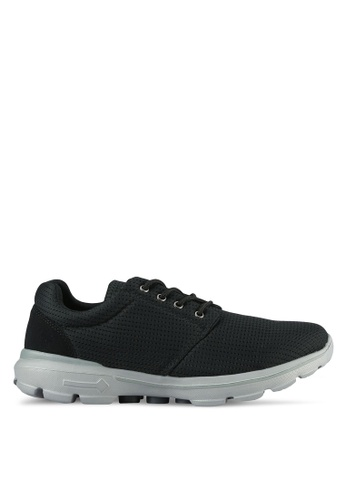 UniqTee black Lightweight Lace Up Sport Sneakers UN097SH0S21DMY_1