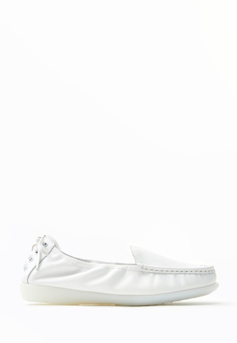 PAZZION white Slip-on Loafers 53BF5SHAC95BCBGS_1