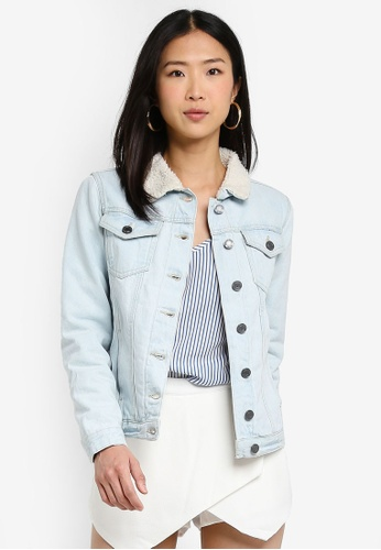 367adf03c3106 Brave Soul blue Light Bleach Wash Denim Jacket With Borg Lining  EEBCAAA25ED2C5GS 1