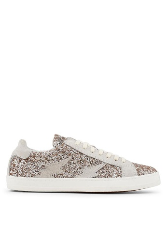 Minelli white F51 008/GLI Glam Rock Glitter Leather Sneakers - Ysia MI352SH86YKRSG_1
