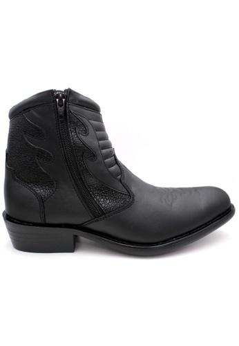 midzone black EAGLE HUNTER Handmade Genuine Leather Boots 44C8BSH141E25EGS_1
