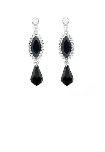 Glamorousky black Elegant Marquise Earrings with Silver Austrian Element Crystal 6C343ACB298BB0GS_1