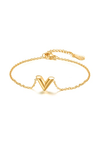 CELOVIS gold CELOVIS - Victoria V-Shape Bracelet in Gold F95FAACB38EFA6GS_1