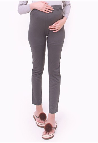 Eve Maternity grey Basic Maternity Legging Pants C2DF9AA850123BGS_1