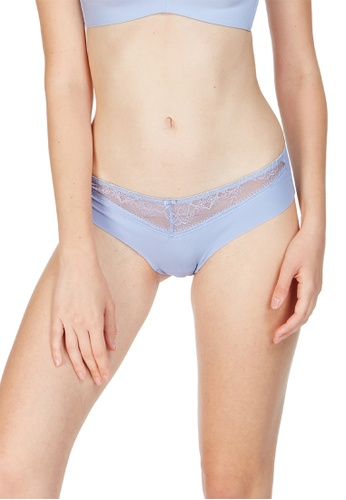 6IXTY8IGHT blue Isabeau Solid, Lace Micro Clean Cut Hipster Panty PT09877 5D6A4US356562EGS_1