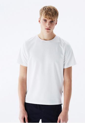 Life8 white Casual Elastic U-Neck Tee-10036-White 46E48AA3DB4A0DGS_1