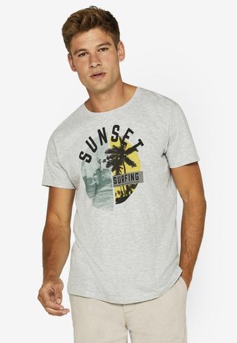 ESPRIT 灰色 Summer Print Jersey T-襯衫 F47E7AAF6F3BD9GS_1