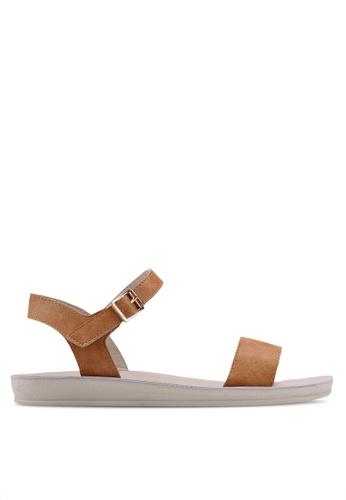Noveni brown Strappy Sandals FC199SH45D1134GS_1