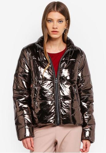 JACQUELINE DE YONG silver Sterling Padded Jacket 7B366AA0F24450GS_1
