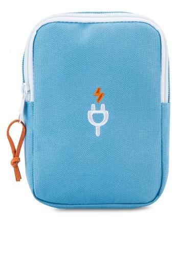 Bagstationz blue Travel Gadget/Power Bank Pouch BA607AC82LQVMY_1