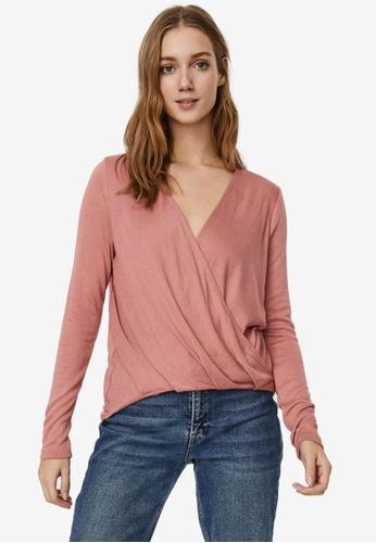 Vero Moda pink Mila Top 78B2AAA70989C5GS_1