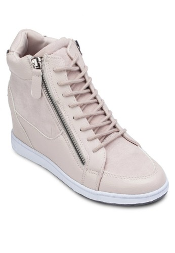 High Top Sneakers Wizalora 鞋評價th Side Zippers, 女鞋, 休閒鞋