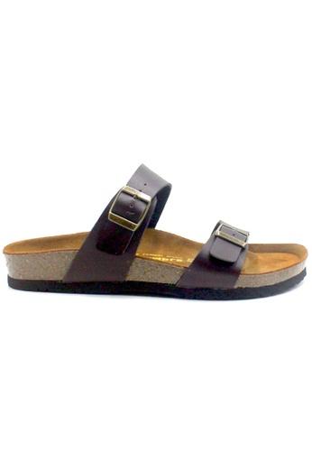 SoleSimple 褐色 Glasgow - 棕褐色 百搭/搭帶 軟木涼鞋 4E291SH29AE7FDGS_1