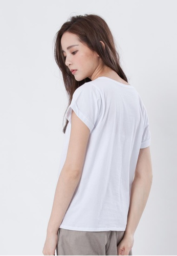 68a605a17a86 Buy so that s me Folded Sleeves Plain Cotton T-shirt
