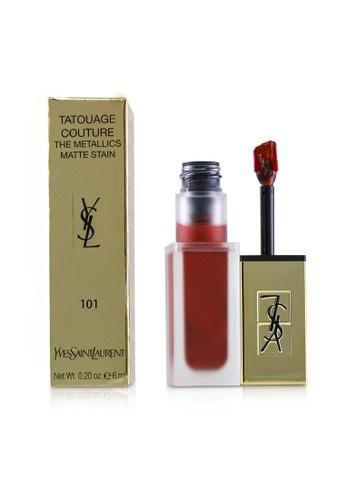 Yves Saint Laurent YVES SAINT LAURENT - Tatouage Couture The Metallics - # 101 Chrome Red Clash 6ml/0.2oz BBB5DBE60C5B72GS_1