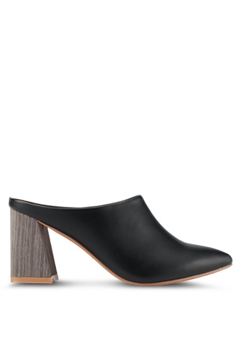 ZALORA black Detailed Chunky Heels EBFEASH33E5915GS_1