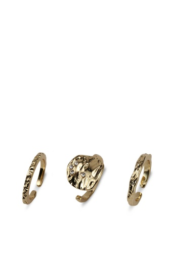 Pieces gold Maya Ring Set Plated E04EEACBF9A7BFGS_1