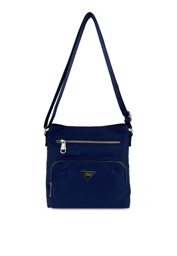 Mel&Co navy Nylon Sling Bag AC902AC63CEE59GS_1
