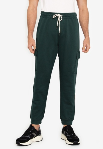 Cotton On green Trippy Slim Trackie Cargo Pants 9465FAAEFE4029GS_1