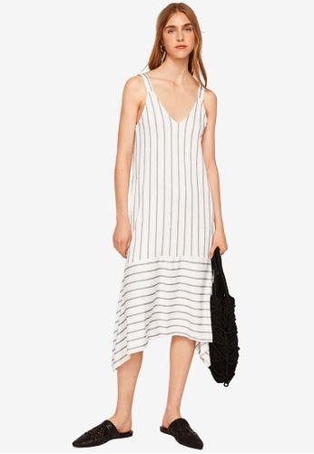 Mango white Flowy Striped Dress 10F9CAA3B9BC3BGS_1