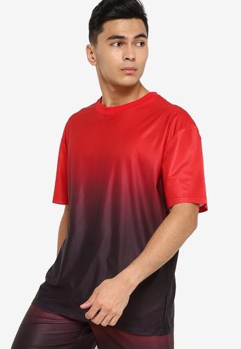 ZALORA ACTIVE multi Active Ombre Oversized T-shirt 81E2AAA0794D98GS_1