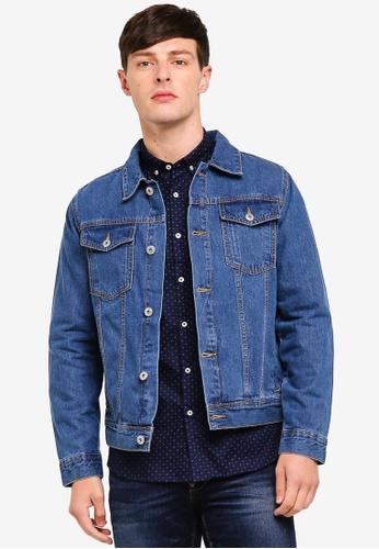 Burton Menswear London 藍色 牛仔外套 65F97AA15468F9GS_1