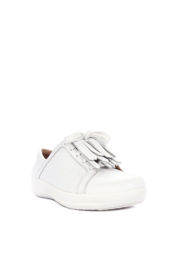 fd091556ac8b22 Fitflop white F-sporty Ii Lace Up Fringe Sneakers - Leather  250D8SH2285A5FGS 1