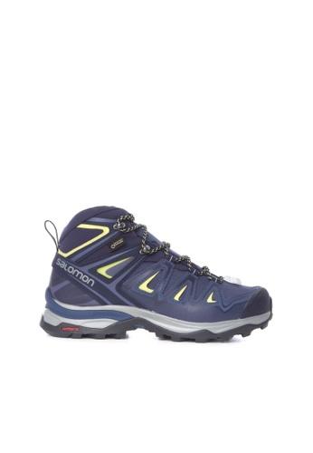 Salomon blue Salomon X Ultra 3 Wide Mid Gtx W Shoes Crown Blue 9822BSH1650953GS_1